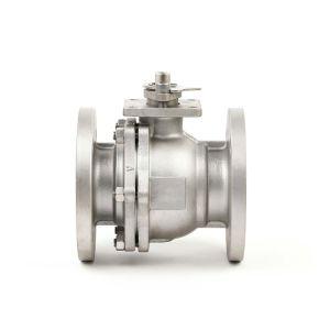 Ks JIS 10K 20K llena la cavidad de la industria de acero inoxidable fundido Teflon 2PC Válvula de bola de brida flotante