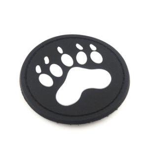 Custom 3D de la etiqueta de caucho de silicona Bolsos Zapatos ropa para niños