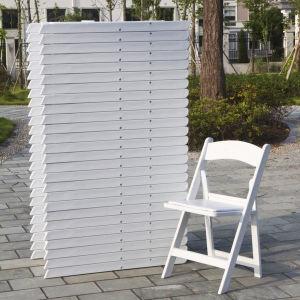 Vinyl Pad를 가진 백색 Resin Folding Chair