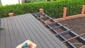 Anti-UV WPC Decking des revêtements de sol pour piscine, jardin ou paysage