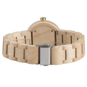 Venda por grosso de presentes de Natal de quartzo da marca de moda ODM Montre Vigilância de madeira