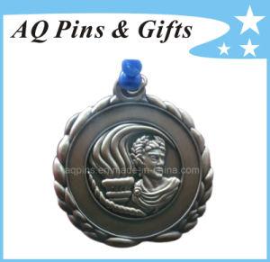 旧式な青銅色のめっき(136)のカスタム3D金属の記念品の円形浮彫り