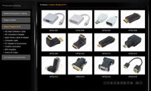 우수한 Hq 옆 각이지는 HDMI 케이블 V1.4