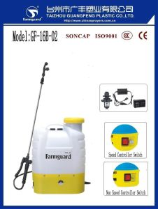 16L Agricultura Pulverizador Eléctrico Mochila Sprayer PE Gf-16B-02