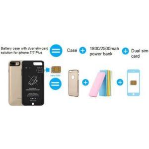 Pilha do cartão duplo SIM caso, Suporte Nano Cartão SIM
