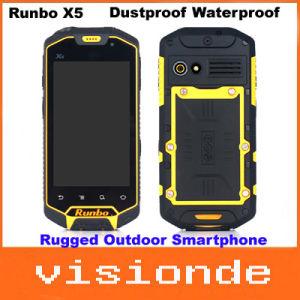 Ursprüngliches Runbo X5 IP67 staubdichtes wasserdichtes schroffes im FreienSmartphone mit 4.3  Note Doppel-SIM Mtk6577 verdoppeln Kern RAM 1GB+ROM 4GB