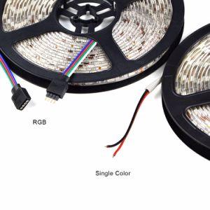 Las luces LED de 5m de luz de tira flexible de cocina decoración luces de CC12V impermeable RGB Diodo cinta cinta de opciones para armario armario armario de la luz