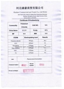 Het in het groot Chloride van het Kalium 60% Kcl Meststof van de Potas