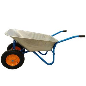 Brouette léger à roues doubles pour la construction