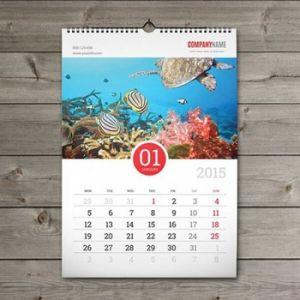 De Kalender van het Bureau van de Druk van de Kalender van de Muur van de Kalender van de Desktop van de Lijst van het document