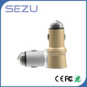 Sale&#160 caldo; Caricatore Emergency doppio dell'automobile del USB con il martello di sicurezza del metallo per i Mobiles