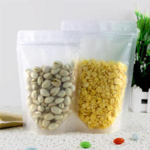 위로 서 있으십시오 Ziplock (ML-E13)를 가진 Zip 자물쇠 또는 플라스틱 패킹 부대를 가진 투명한 박판으로 만들어진 음식 주머니를