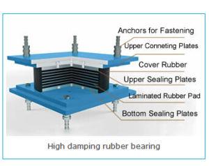 Hdr haut palier élastique d'amortissement pour la construction de bâtiments de pont