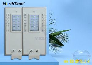 18W de iluminación LED inteligente de energía del Panel Solar lámpara de luz de la calle