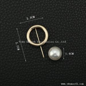 Figura geometrica accessori circolari della sciarpa dello scialle di Pin del tasto del Brooch della perla