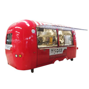 La vente de rue Hot Dog charrettes fast-food Remorque mobile
