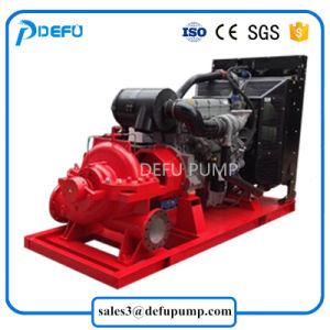 Transfert d'eau de mer de 1250 gpm moteur pompe incendie diesel homologué UL