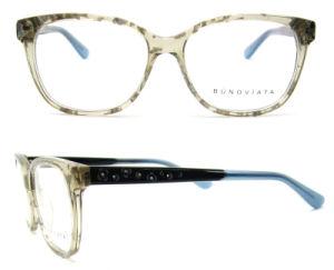販売のアセテートの接眼レンズフレームの水晶カラー