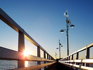 300W Maglev Wind-Turbine mit Sonnenkollektor-Straßenlaterne-Projekt