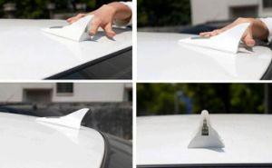 8 LED solaire plastique adhésif voiture ailerons de requin VOYANT ALARME