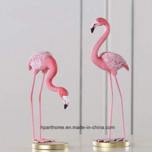 Het aangepaste Standbeeld van het Beeldhouwwerk van de Flamingo van de Hars van het Beeldje van de Decoratie van het Huis Realistische Vlammende