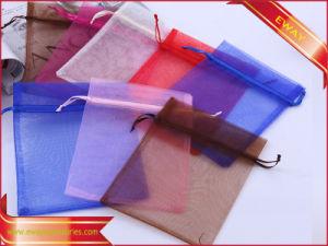 Sacco dell'imballaggio dei monili del Drawstring del sacco del Organza