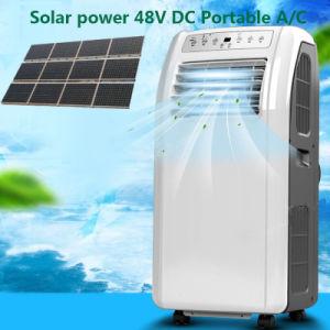 climatiseur portatif 100% solaire accessible de C.C 48V de 9000BTU 12000BTU