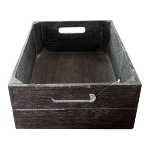 [5بكس] [درك بروون] [ووودن كرت] يثبت لأنّ تخزين غلّة كرم لول خشب صندوق شحن