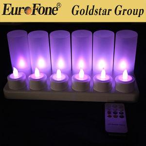 Fabricante Precios baratos directa de 12 piezas de LED recargable Candl