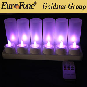 Direto do fabricante Barato preço 12 Pedaços LED Candl Recarregável