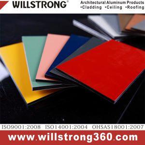 Kfc vermelho painel composto de alumínio de 3 mm para o suporte da tela de quadro de avisos
