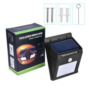 8 LED-Licht-/Lampen-im Freien Solarwand-Licht-wasserdichte Garten-Lampe