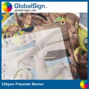Pubblicità della bandiera su ordinazione del poliestere del contesto della visualizzazione di evento