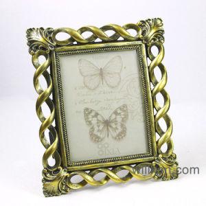 樹脂の旧式な金のバロック式の写真フレーム