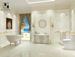 De zuivere Witte Vastgestelde Tegels van de Badkamers
