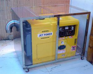 7kw 7.5kVAの無声おおいが付いている空気によって冷却されるディーゼル機関の発電機