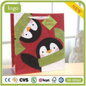 Маленький красный птиц праздник настоящей одежды подарочные бумажные пакеты