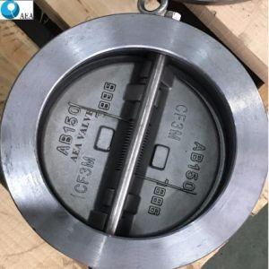 API 6Dの極度のデュプレックスステンレス鋼A890の4Aによって力まかせに引かれるタイプ二重版のウエファーの小切手弁