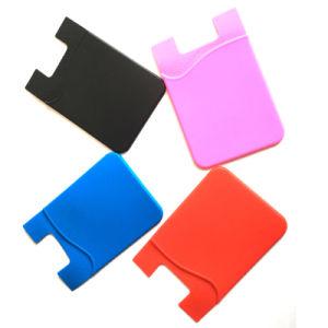 Supporti impermeabili della carta di credito di identificazione di 3M dell'autoadesivo del silicone astuto universale promozionale del telefono mobile