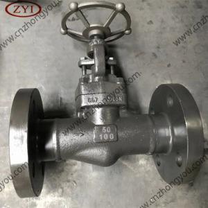 Doble brida soldada de acero forjado de los extremos de la válvula de globo