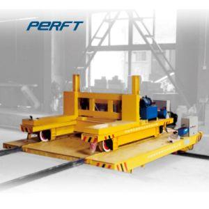 Carrello ferroviario a pile elettrico di trasferimento della guida dell'automobile piana