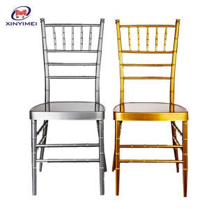 Resina de metal de alumínio de empilhamento Hotel Restaurante casamento jantar Chiavari cadeira (XYM-ZJ02)