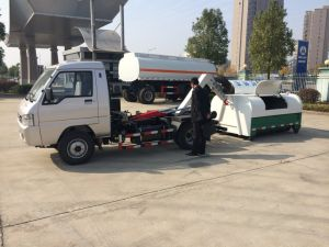 4X2ホックの上昇のガーベージの市目的のための小型トラックの屑トラック