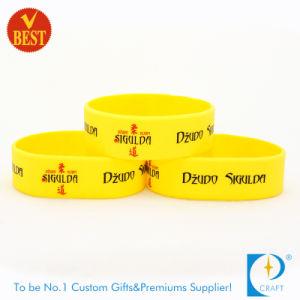 1 polegada de largura do logotipo Debossed Pulseira & bracelete de silicone com alta qualidade
