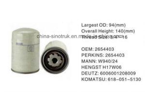 Camión de alta calidad de los filtros de combustible para motores Perkins de OD19596
