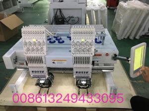 Компьютеризованная 2 руководителей коммерческих вышивка машины для винтов с головкой под/Tshirt/трубчатые/Обувь/Sequin/codecs вышивка
