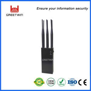 GPS van WiFi van de auto 2g 3G 4G bouwde de Stoorzender van het Signaal van de Hoge Macht Batterij 8000mAh in