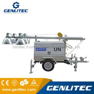 4000-6000 Watt Kubota Generator-beweglicher Towable heller Aufsatz mit 9m dem mechanischen Mast