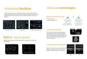 PT-405 Equipo médico portátil Doppler Color con sonda lineal convexo&
