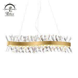 LED moderno che appende il lampadario a bracci di cristallo della decorazione di illuminazione interna